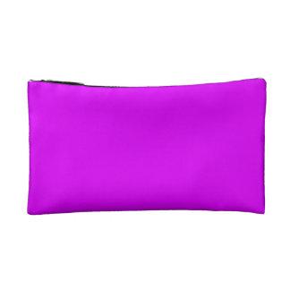 Pequeña púrpura cosmética del bolso