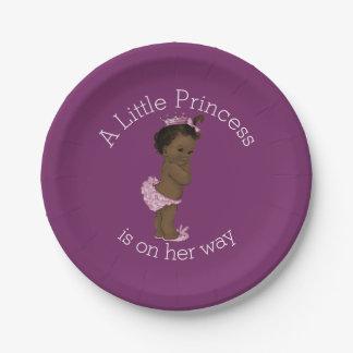 Pequeña púrpura étnica de la princesa fiesta de platos de papel