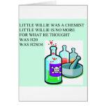 pequeña rima de willie de la química felicitacion