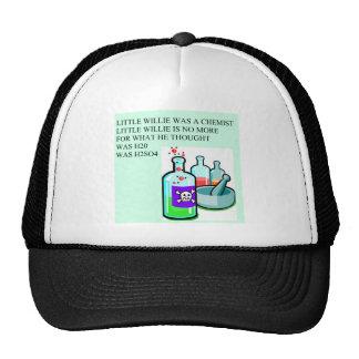 pequeña rima de willie de la química gorras