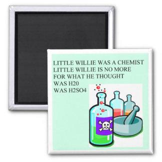 pequeña rima de willie de la química iman de frigorífico