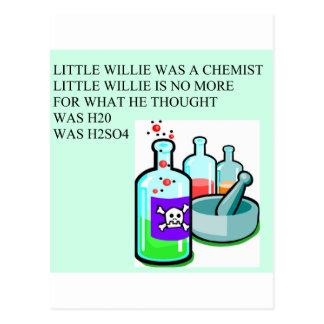 pequeña rima de willie de la química postales