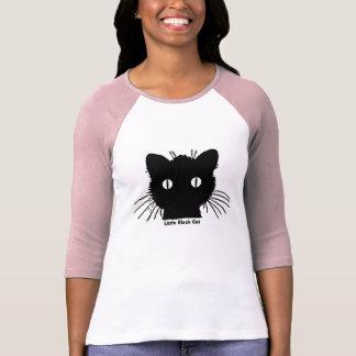 Pequeña ropa del gato negro camisetas