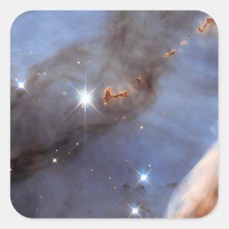 Pequeña sección de la nebulosa de Carina Pegatina Cuadrada