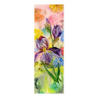 """Pequeña señal del """"iris púrpura"""" tarjetas de visita mini"""