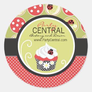 Pequeña señora Business Sticker Pegatinas Redondas