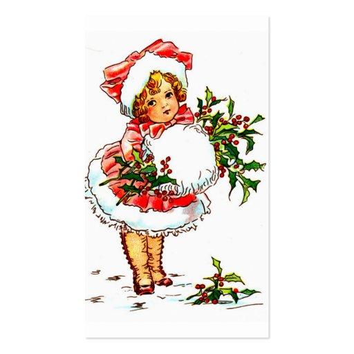 """""""Pequeña señora del navidad """" Tarjetas De Visita"""