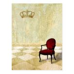 Pequeña silla real con la corona postal