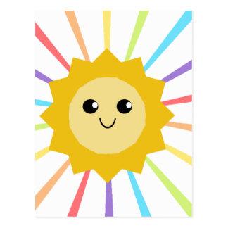 Pequeña sol linda del arco iris tarjetas postales