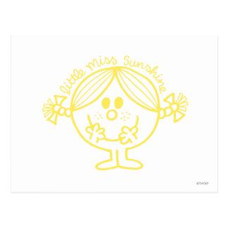 Pequeña Srta. amarilla brillante Sunshine Tarjeta Postal