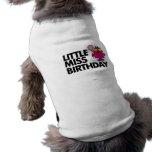Pequeña Srta. Birthday Classic 2 Camisetas Mascota