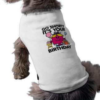 Pequeña Srta. Birthday el | va la versión 14 de Camiseta Sin Mangas Para Perro