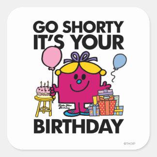 Pequeña Srta. Birthday el | va la versión 24 de Pegatina Cuadrada