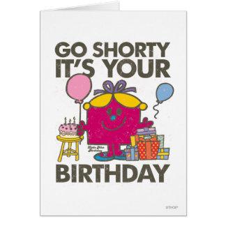 Pequeña Srta. Birthday el | va la versión 2 de Tarjeta De Felicitación