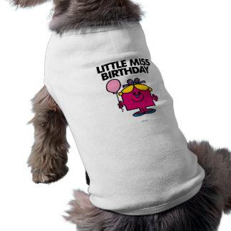 Pequeña Srta. Birthday With Pink Balloon Camiseta Sin Mangas Para Perro