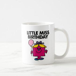 Pequeña Srta. Birthday With Pink Balloon Taza De Café