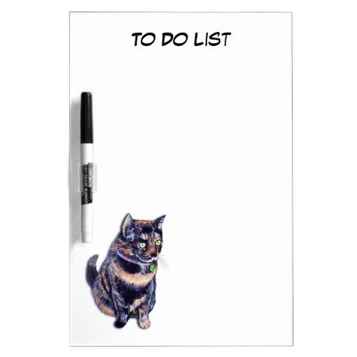 Pequeña Srta. Cat Dry Erase Board Pizarra Blanca