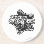 Pequeña Srta. Chatterbox Block Posavasos Personalizados