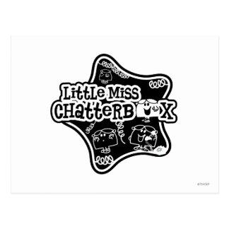 Pequeña Srta. Chatterbox estrella negra y blanca Postales