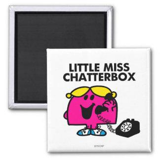 Pequeña Srta. Chatterbox y teléfono negro Imán Cuadrado