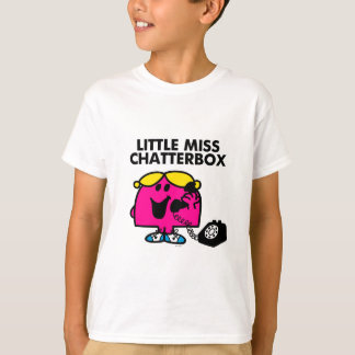 Pequeña Srta. Chatterbox y teléfono negro Playera