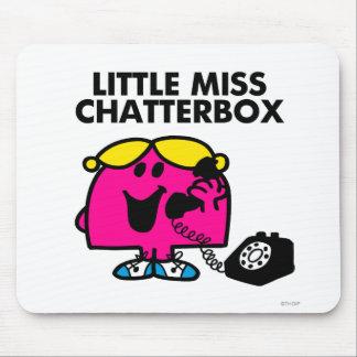 Pequeña Srta. Chatterbox y teléfono negro Alfombrilla De Ratón