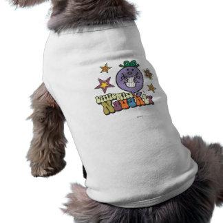Pequeña Srta. colorida Naughty Playera Sin Mangas Para Perro