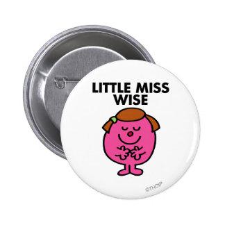 Pequeña Srta. contemplativa Wise Pin Redondo De 2 Pulgadas