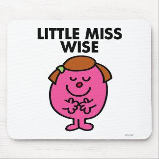 Pequeña Srta. contemplativa Wise Alfombrilla De Ratón