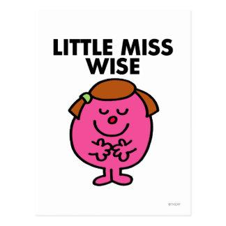 Pequeña Srta. contemplativa Wise Postal