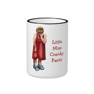 Pequeña Srta. Cranky Pants: Chica que pone mala ca Taza A Dos Colores