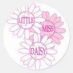 Pequeña Srta. Daisy Etiquetas Redondas