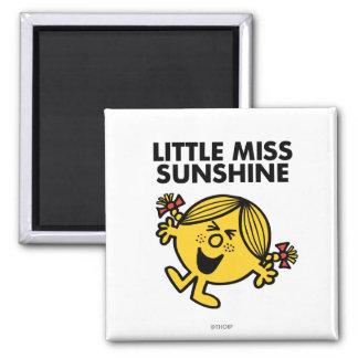 Pequeña Srta. de griterío Sunshine Imán Cuadrado