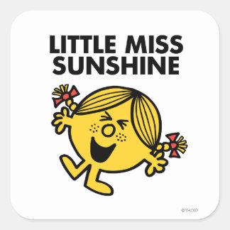 Pequeña Srta. de griterío Sunshine Pegatina Cuadrada