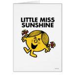Pequeña Srta. de griterío Sunshine Tarjeta De Felicitación