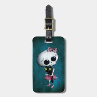 Pequeña Srta. Death - belleza de Halloween Etiquetas Bolsa