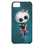Pequeña Srta. Death - belleza de Halloween Funda Para iPhone 5C