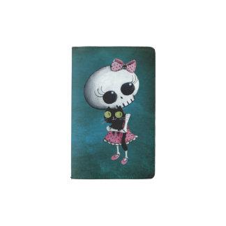 Pequeña Srta. Death - belleza de Halloween Funda Para Libreta Y Libreta Pequeña Moleskine