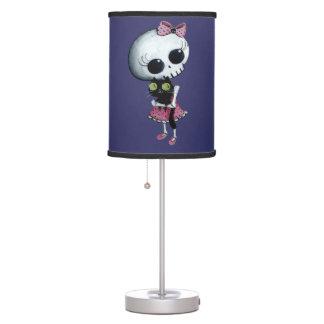 Pequeña Srta. Death - belleza de Halloween Lámpara De Escritorio
