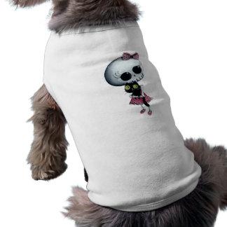 Pequeña Srta. Death - belleza de Halloween Playera Sin Mangas Para Perro