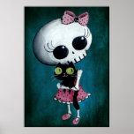 Pequeña Srta. Death - belleza de Halloween Póster
