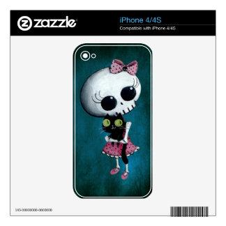 Pequeña Srta. Death - belleza de Halloween Skins Para eliPhone 4S