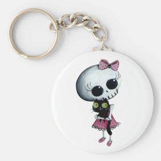 Pequeña Srta. Death - belleza de Hallowen Llavero Personalizado