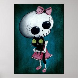 Pequeña Srta Death - belleza de Hallowen Impresiones