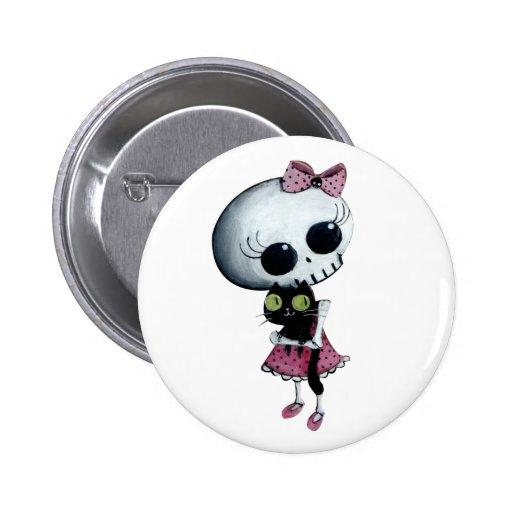 Pequeña Srta. Death - belleza de Hallowen Pins