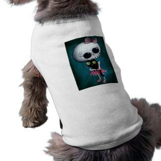 Pequeña Srta. Death - belleza de Hallowen Camisetas Mascota
