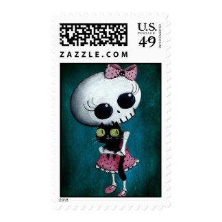 Pequeña Srta. Death - belleza de Hallowen Sello