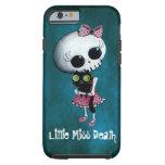 Pequeña Srta. Death con el gato negro Funda De iPhone 6 Tough