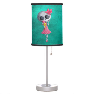 Pequeña Srta. Death con helado de Halloween Lámpara De Mesa