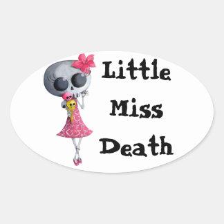 Pequeña Srta. Death con helado de Halloween Calcomanías De Ovaladas
